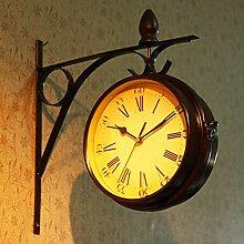 Horloge Murale Style Pendule De Gare Rétro pour