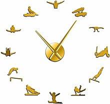 Horloge Murale Surdimensionné Hommes Gymnastique