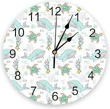 Horloge murale suspendue en forme de tortue de