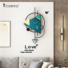 Horloge murale triangulaire pivotante, grand
