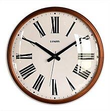 Horloge murale Vintage en bois massif, style