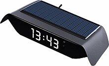 Horloge Numérique De Voiture Solaire Thermomètre