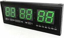 Horloge numérique LED avec minuteur, calendrier,