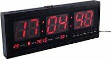 Horloge Numérique LED Horloge avec Calendrier