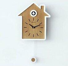 HORLOGE PENDULE Birdhouse Noir Coucou Moderne avec