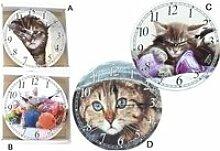 Horloge - pendule murale Chat - 33 cm - D