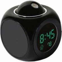 Horloge,Projection numérique réveil veilleuse