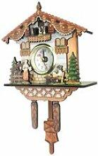 Horloge Quartz Moderne Mural en Bois Inspirée du