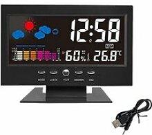 horloge Réveil à affichage LCD à projection