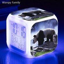 Horloge,Réveil électronique numérique 7