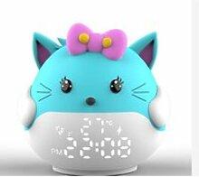 Horloge - Réveil Enfant Alarm Led Veilleuse Chat