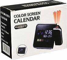Horloge Réveil Lampe Multifonction LCD Affichage