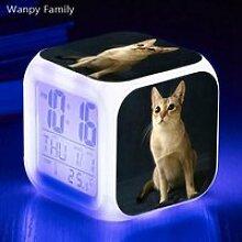 Horloge,Réveil numérique pour chat animal de