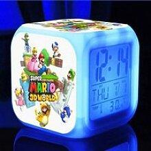 Horloge,Réveil numérique Super Mario brothers 7