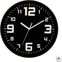 Horloge silencieuse - Ø 30 cm - Noir