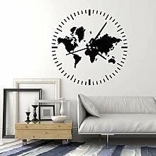 Horloge Stickers Muraux Voyage Voyage Abstrait