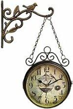 HORLOGE ZECAN Horloge Murale R&eacutetro Double