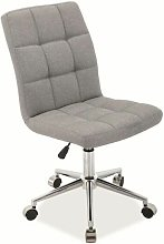 HORRE - Chaise pivotante avec piètement chromé -