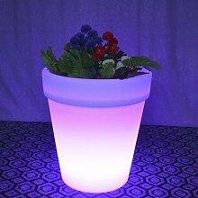 Hot LED Solaire Pot De Fleur Lumière Jardin