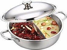 Hot Pot Wok Casserole chinoise en acier inoxydable