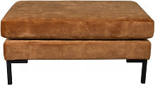 HOUDA - Repose pieds en aspect cuir Caramel