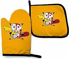 Houlipeng Gants de Cuisine antidérapants Pikachu