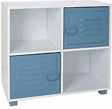 House & Homestyle Cube de Rangement 4 Cube Bleu