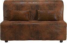 Housse de canapé BZ en suédine marron