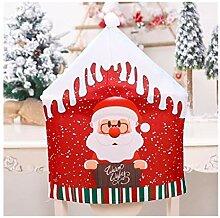 Housse de chaise de Noël avec chapeau rouge pour
