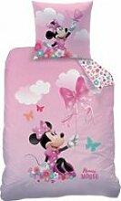 Housse de couette 140x200 - Disney Minnie Papillon