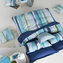 Housse de couette LOANE bleu/vert/blanc 260x240 Cm