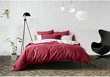 Housse de couette Rouge 240x220 961025 - Bâton
