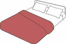 Housse de couette uni percale rouge massaï