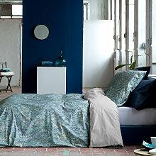 Housse de couette YANDEL bleu/vert 155x220 cm -