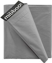 Housse de pouf géant gris clair BIG MILIBAG