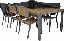 Housse de table de jardin 240 x 130 cm Gris - Gris