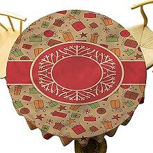 Housse de table ronde pour décoration de table de