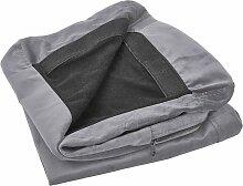 Housse en velours gris pour canapé 3 places BERNES