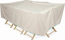 Housse table de jardin rectangulaire 240 x 130 cm