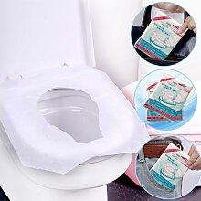 Housses de siège de toilette jetables, lot de 10