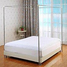 HOXMOMA Moustiquaire Cadre de lit 4 Coins pour lit