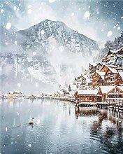 HQQN Peinture à l'huile d'hiver par