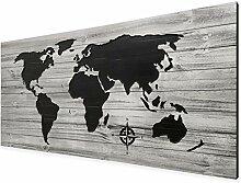 HRHRHREU Plaque en bois style carte du monde style