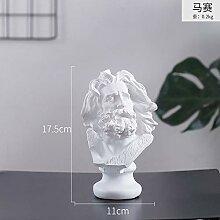 HSIYE Sculptures Personnage Buste Croquis résine