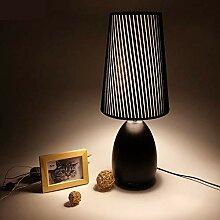 HtapsG Lampe de Table Lampe Pastorale Style Tissu