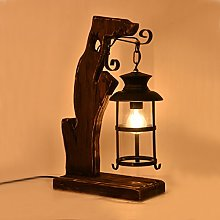 HTDZDX Américain Rétro Lampe De Table En Bois