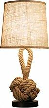 HTDZDX Américain Rétro Lampe De Table