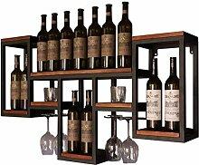 HTDZDX Bar Étagères Flottantes Wine Rack - À