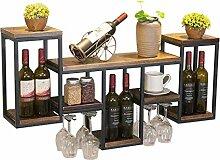 HTDZDX Bar/Pub Étagères Flottantes Wine Rack -