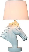 HTDZDX Lampe de table de style tête de cheval en